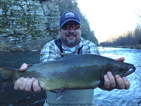Trout Fishing Beavers Bend | Dallas Guide Carey Thorn | Home